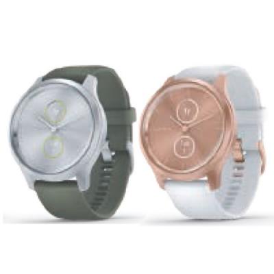 GARMIN vivomove style 指針智慧腕錶(矽膠錶帶)