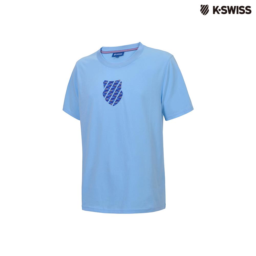 K-SWISS 3D HT Shied Logo Tee印花短袖T恤-男-藍