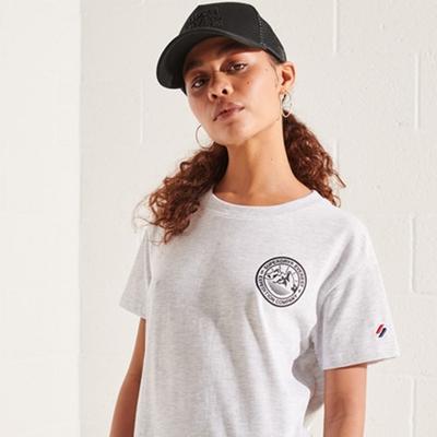 SUPERDRY 女裝 短袖T恤 EXPEDITION BOXY 淺灰