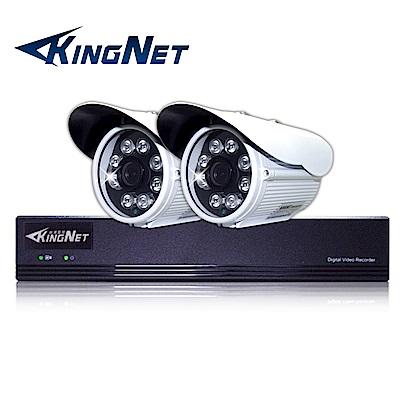 監視器攝影機 KINGNET 4路4MP監控主機 + 2支 HD 1080P 防水槍型