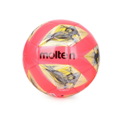 MOLTEN #4合成皮足球-訓練 4號球 F4A2000-RY 螢光粉黃銀