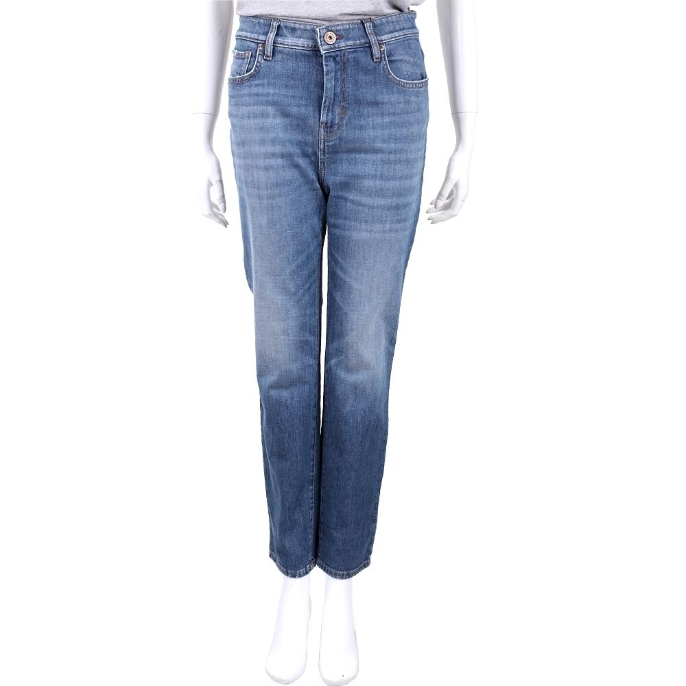 MAX MARA-WEEKEND 復古藍刷色丹寧直筒牛仔褲