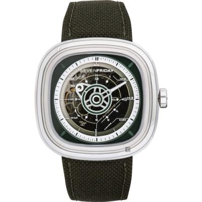 (無卡分期12期)SEVENFRIDAY T2 特殊漸層自動上鍊機械錶-綠/45mm