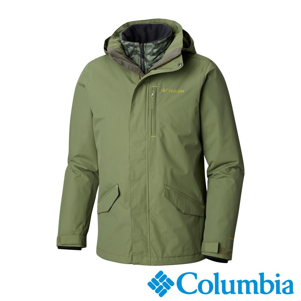 Columbia哥倫比亞 男款-Omni-HEAT 保暖防水兩件式外套-綠
