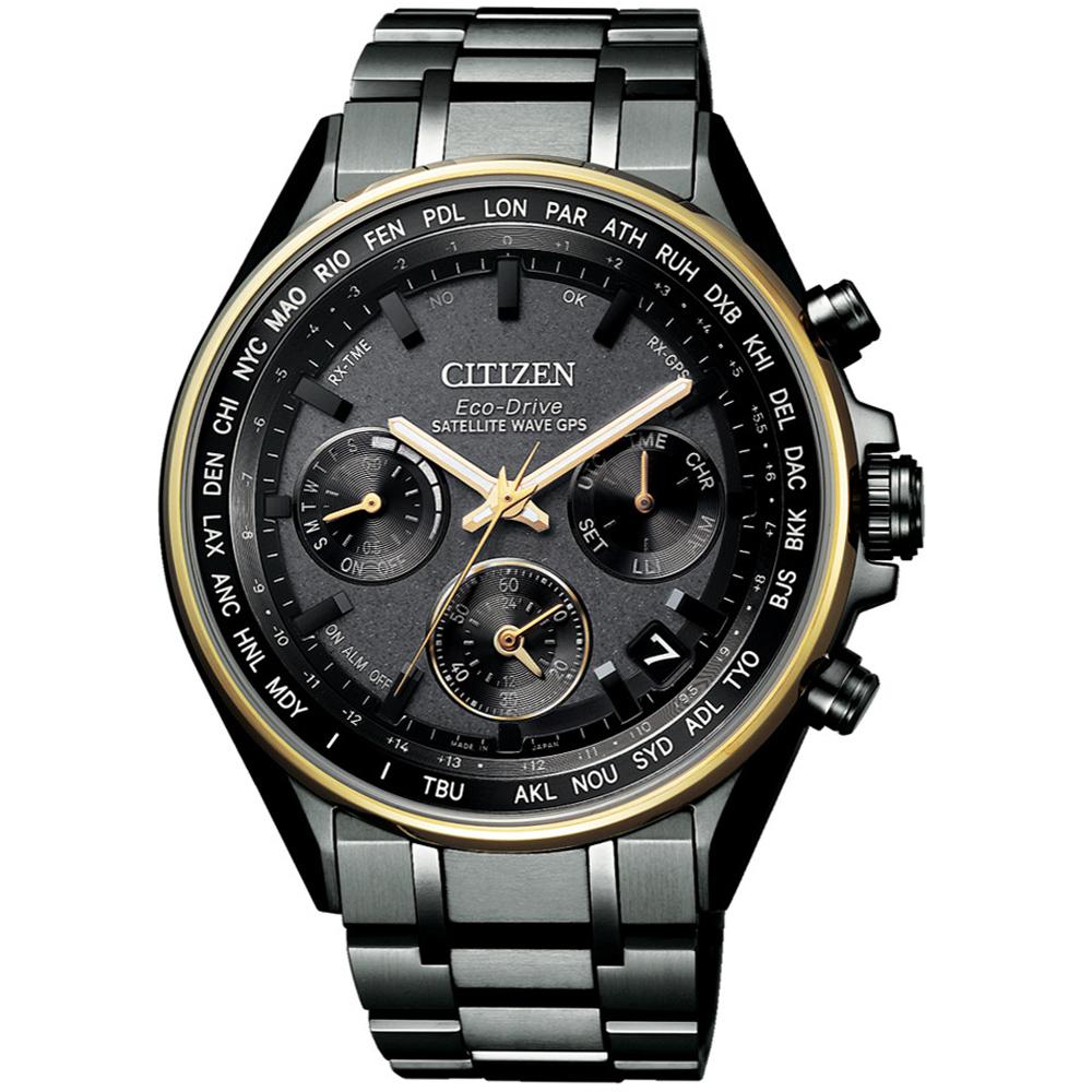 CITIZEN星辰100週年光動能GPS衛星對時限量腕錶(CC4004-58F)