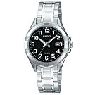 CASIO 白領都會熟女數字不鏽鋼腕錶(LTP-1308D-1B)黑/26mm