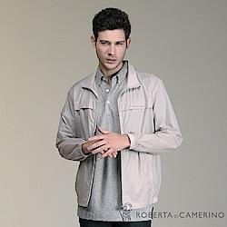 ROBERTA諾貝達 台灣製 極輕防潑水 休閒夾克外套 灰色