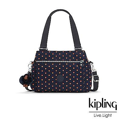 Kipling 手提包 紅黃幾何印花 -中
