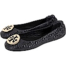 TORY BURCH Minnie Travel 金盾牌絎縫菱格折疊平底鞋(黑色)