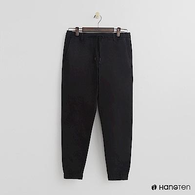 Hang Ten - 男裝 -鬆緊素面束口褲 - 黑