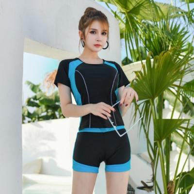 Biki比基尼妮泳衣,甘知短褲式泳衣二件式泳衣有加大泳裝(M-4XL)