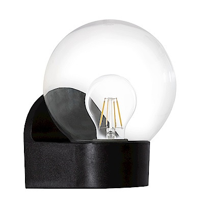 EGLO歐風燈飾 現代雙色水晶球型玻璃壁燈(不含燈泡)