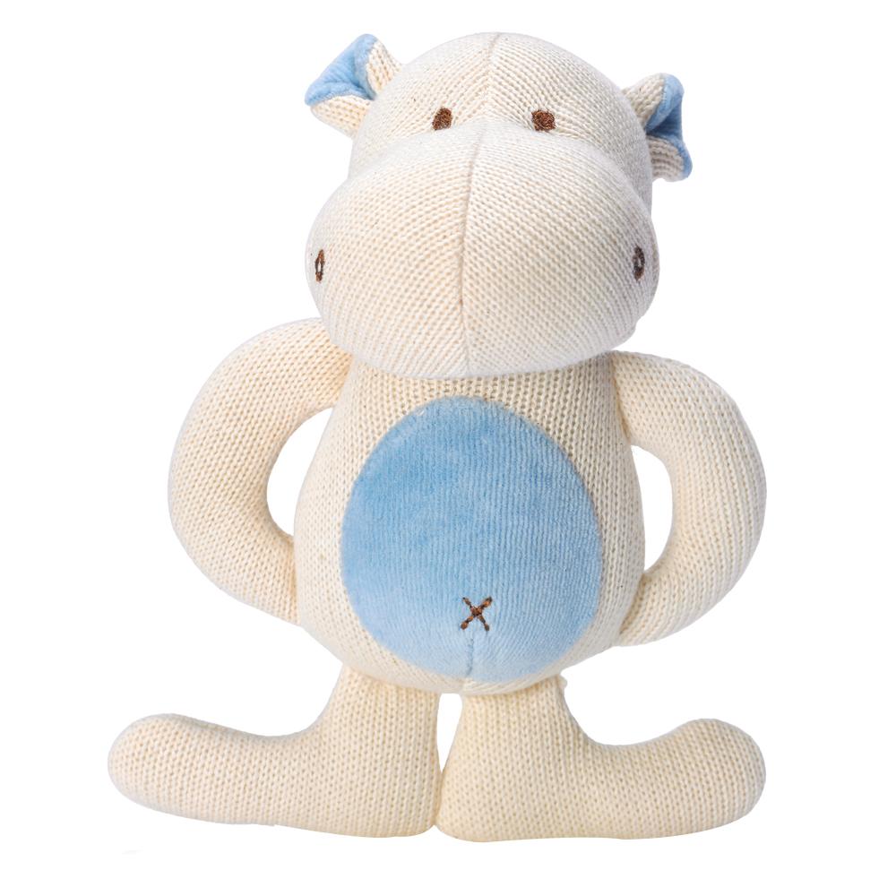 美國miYim有機棉 固齒器 娃娃禮盒系列-河馬