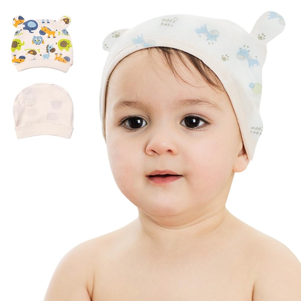 colorland【8入】新生兒帽子 熊熊耳朵嬰兒帽 胎帽