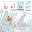 JoyNa嬰兒床冰絲涼蓆 幼兒園兒童網眼透氣枕頭+床墊席子