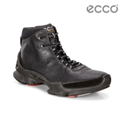 ECCO BIOM C M 銷售冠軍自然律動健步鞋 高筒 男-黑