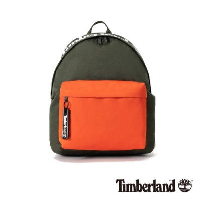 Timberland 中性森林綠撞色拼接休閒後背包|A2FQW