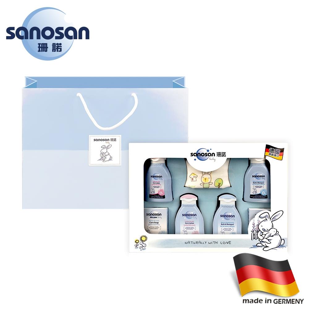 德國sanosan珊諾-baby天然植萃柔膚新生禮盒