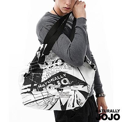 【NATURALLY JOJO】紐約街景休閒袋(黑X白)