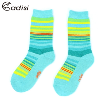 【ADISI】 條紋保暖對折雪襪 AS17044【粉綠】