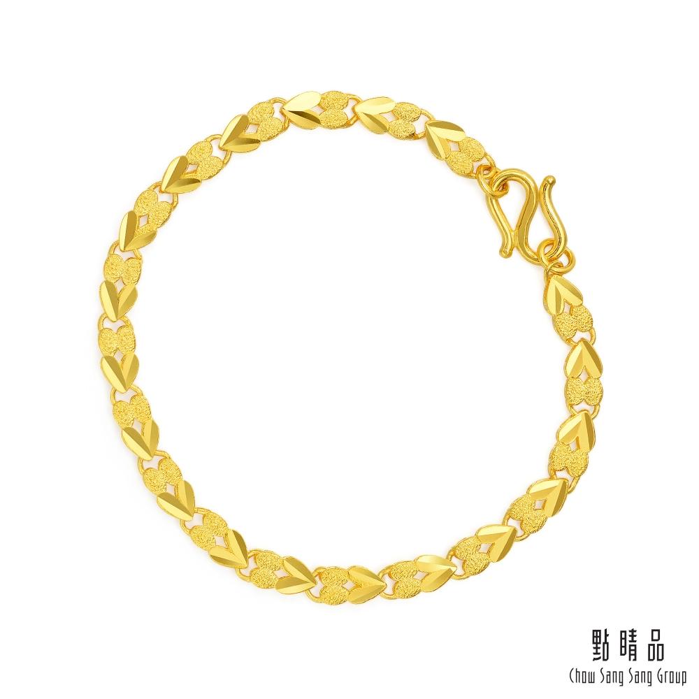點睛品 機織素鍊日常穿搭黃金手鍊17公分_計價黃金