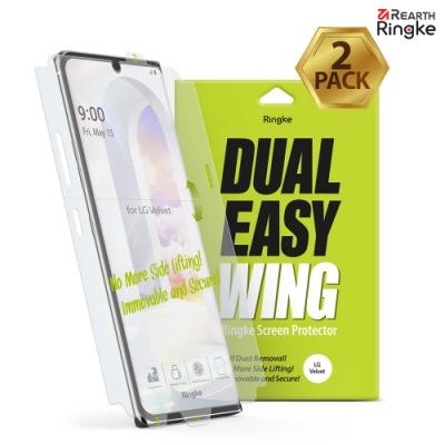 【Ringke】Rearth LG Velvet [Dual Easy Wing] 易安裝側邊滿版螢幕保護貼 - 二片裝