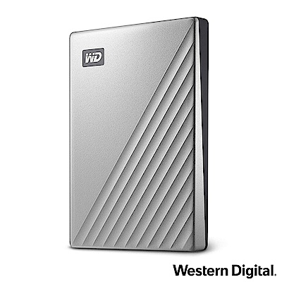 WD My Passport Ultra 1TB(炫光銀) 2.5吋USB-C行動硬碟