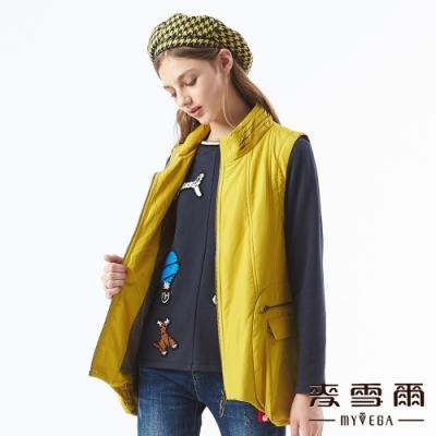 【麥雪爾】大口袋立領造型背心-黃