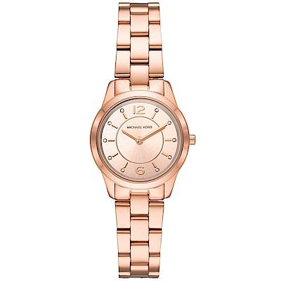 MICHAEL KORS 璀璨晶鑽時尚手錶(MK6591)-玫瑰金/28mm
