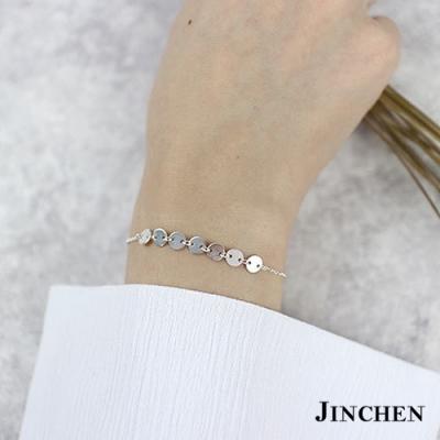 JINCHEN 純銀華麗圓牌手鍊