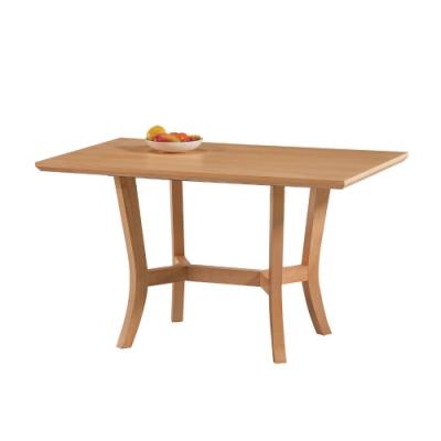 MUNA 7994型西堤原木色4.3尺餐桌 130X80X75cm