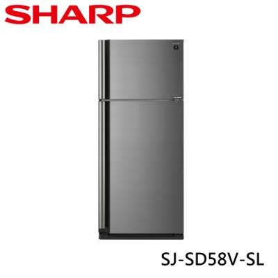 [下單再折] SHARP 夏普 583L 自動除菌離子變頻雙門電冰箱 炫耀銀 SJ-SD58V-SL