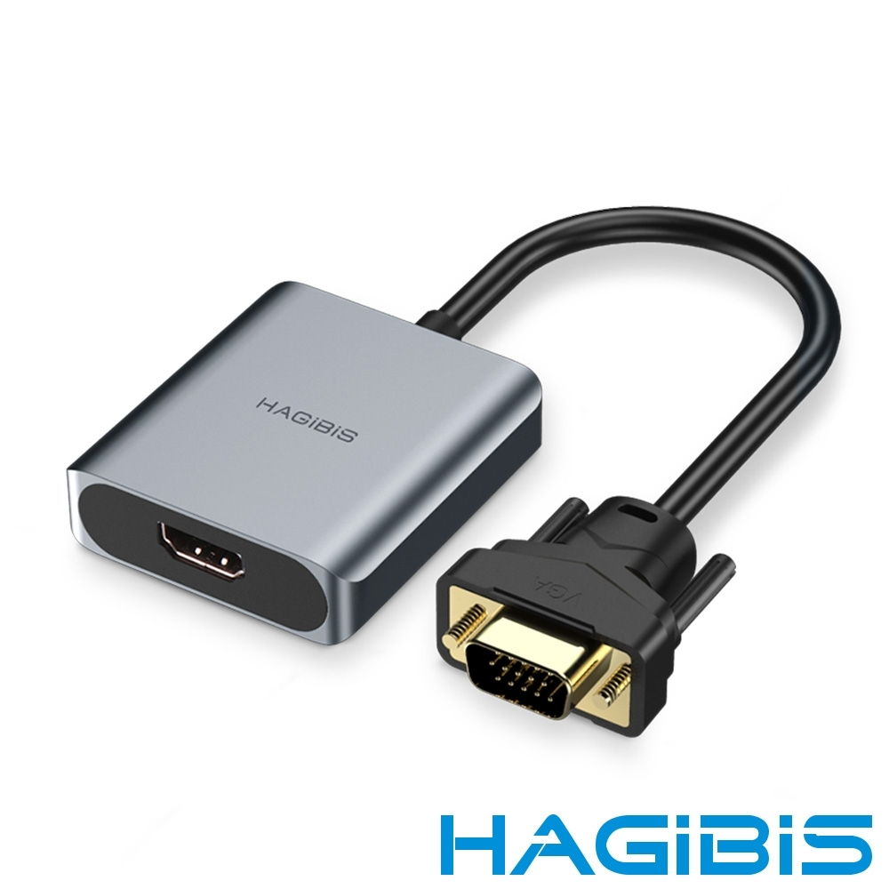 HAGiBiS海備思 VGA轉HDMI高畫質影音轉接器