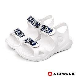 【AIRWALK】減壓緩震輕量休閒涼鞋(童)-白