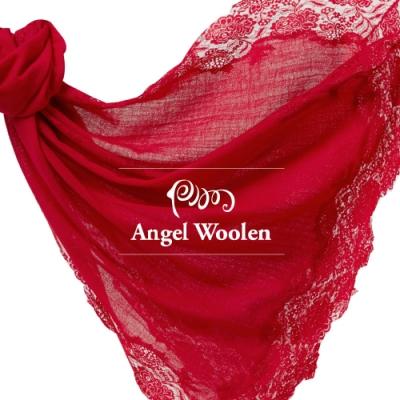 【ANGEL WOOLEN】頂級四面蕾絲CASHMERE印度手工披肩(共三色)