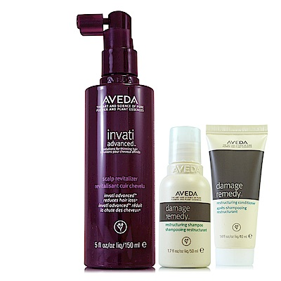 AVEDA 蘊活菁華滋養液150ml(升級版)+復原配方洗髮精50ml+潤髮乳40ml