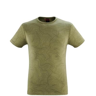 LAFUMA 男 GRAPHIC 短袖排汗衣 等高線 叢林綠-LFV119056909