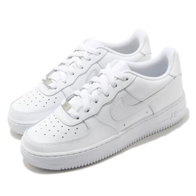 Nike 休閒鞋 Air Force 1 LE GS 大童鞋 女鞋 經典款 皮革 小白鞋 穿搭 全白 DH2920111