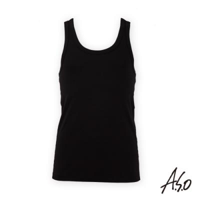 A.S.O負離子系列-男士排汗背心-黑