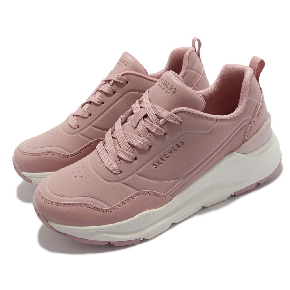 Skechers 休閒鞋 Rovina Smooth Steps 女鞋 時尚 休閒 厚底 修飾腿部線條 耐磨耐用 粉 褐 155460-MVE