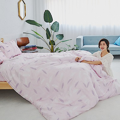 BUHO 100%TENCEL純天絲舖棉兩用被床包組-雙人加大(微風徐來)