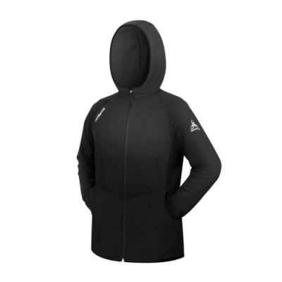HODARLA 男星豪防潑水平織外套-台灣製 慢跑 路跑 連帽外套 運動 反光 3157601 黑