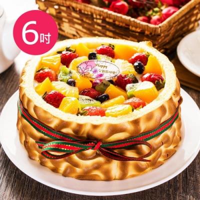 樂活e棧-父親節造型蛋糕-虎皮百匯蛋糕1顆(6吋/顆)