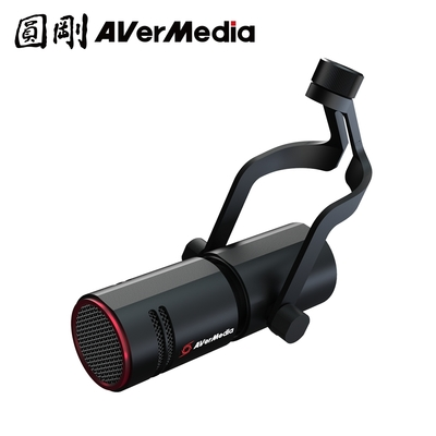 圓剛 AM330 Live Streamer MIC 330 黑鳩動圈式XLR麥克風(贈AM330支架 送完為止)