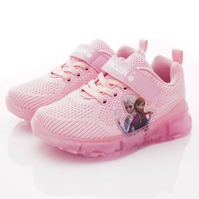 迪士尼童鞋 冰雪奇緣針織電燈鞋款 NI4463粉(中小童段)