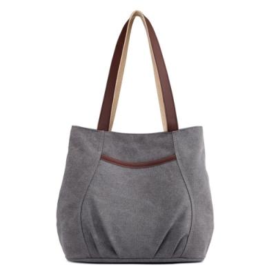 米蘭精品 手提包帆布側背包-大容量簡約休閒耐磨肩背女包情人節生日禮物5色73wa15
