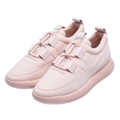 HERMES Team sneaker經典H LOGO橡膠鞋底運動鞋(淡粉)