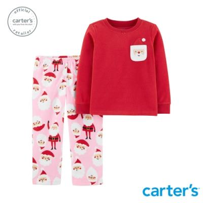 Carter s台灣總代理 聖誕老公公家居服2件組套裝