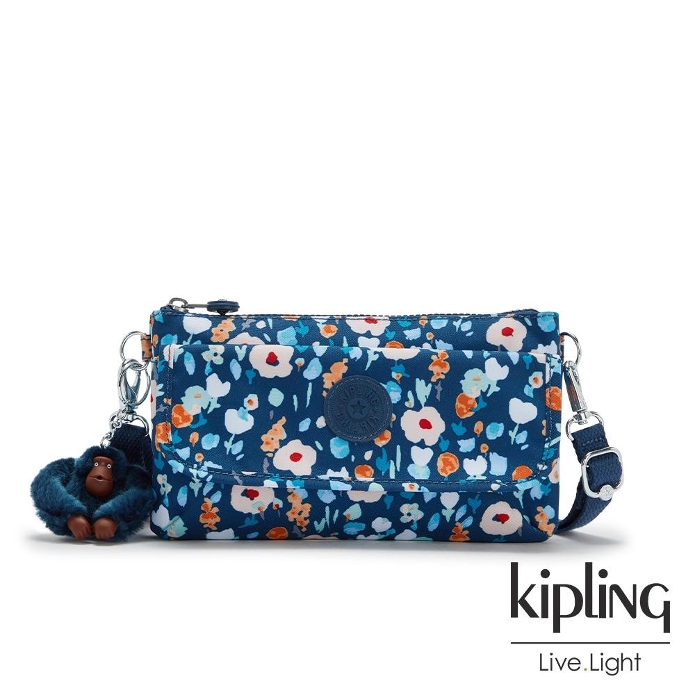 Kipling 牧場彩繪風格翻蓋肩背斜背包-VECKA STRAP CB