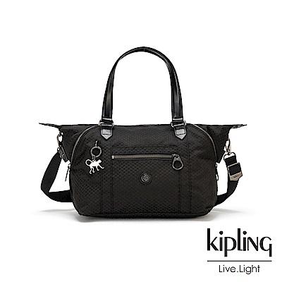 KIpling 內斂霧黑壓紋手提側背包-ART MINI ORGANISED